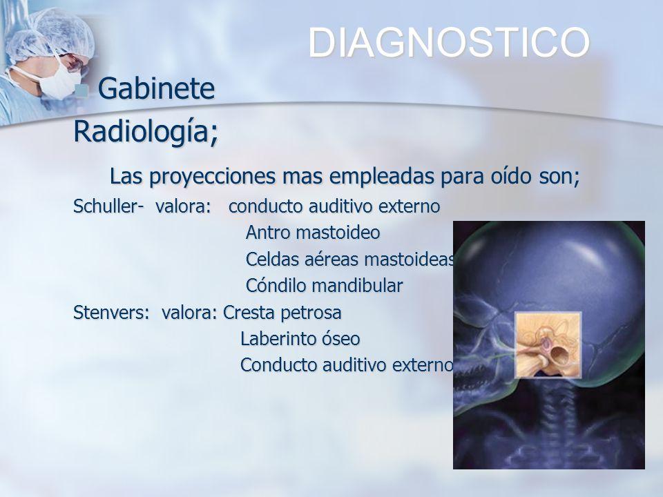 DIAGNOSTICO Gabinete Radiología;
