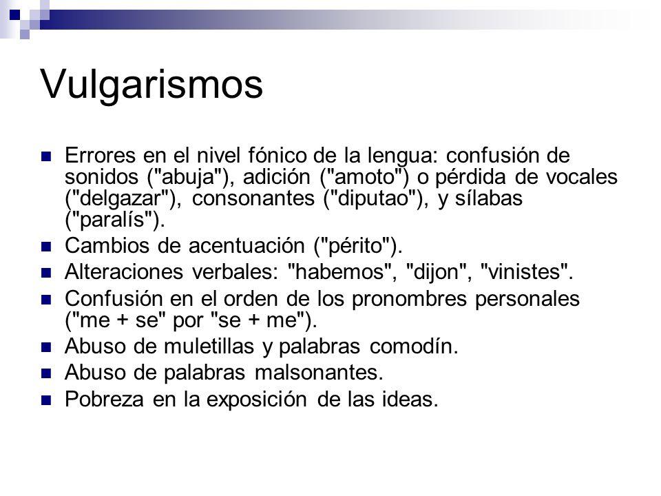 Vulgarismos