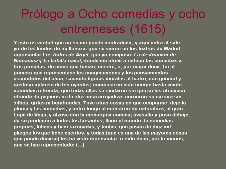 Prólogo a Ocho comedias y ocho entremeses (1615)