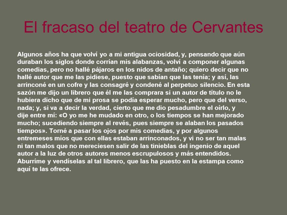 El fracaso del teatro de Cervantes