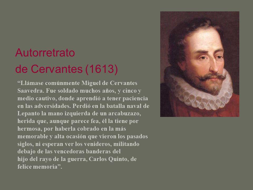 Autorretrato de Cervantes (1613)
