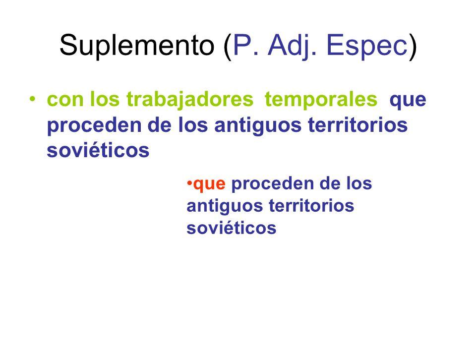 Suplemento (P. Adj. Espec)