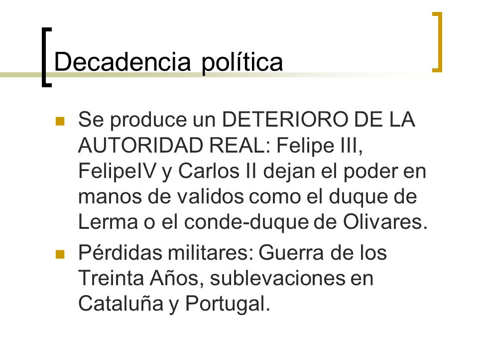 Decadencia política