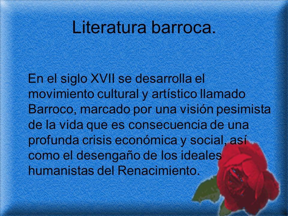 Literatura barroca.