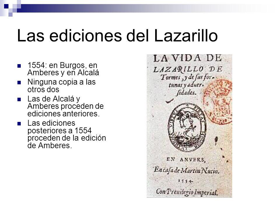 Las ediciones del Lazarillo