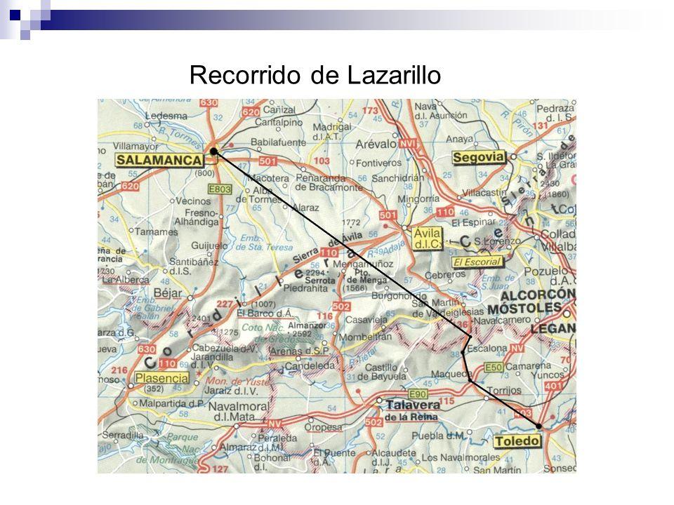 Recorrido de Lazarillo