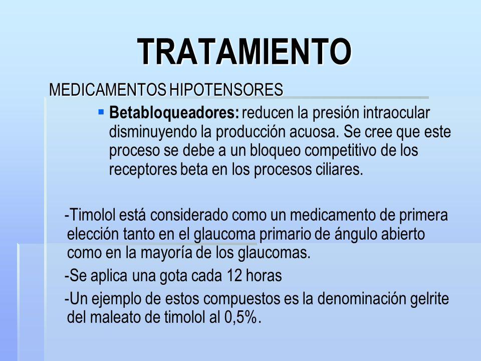 TRATAMIENTO MEDICAMENTOS HIPOTENSORES