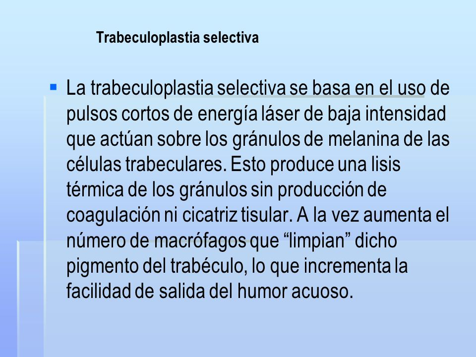 Trabeculoplastia selectiva