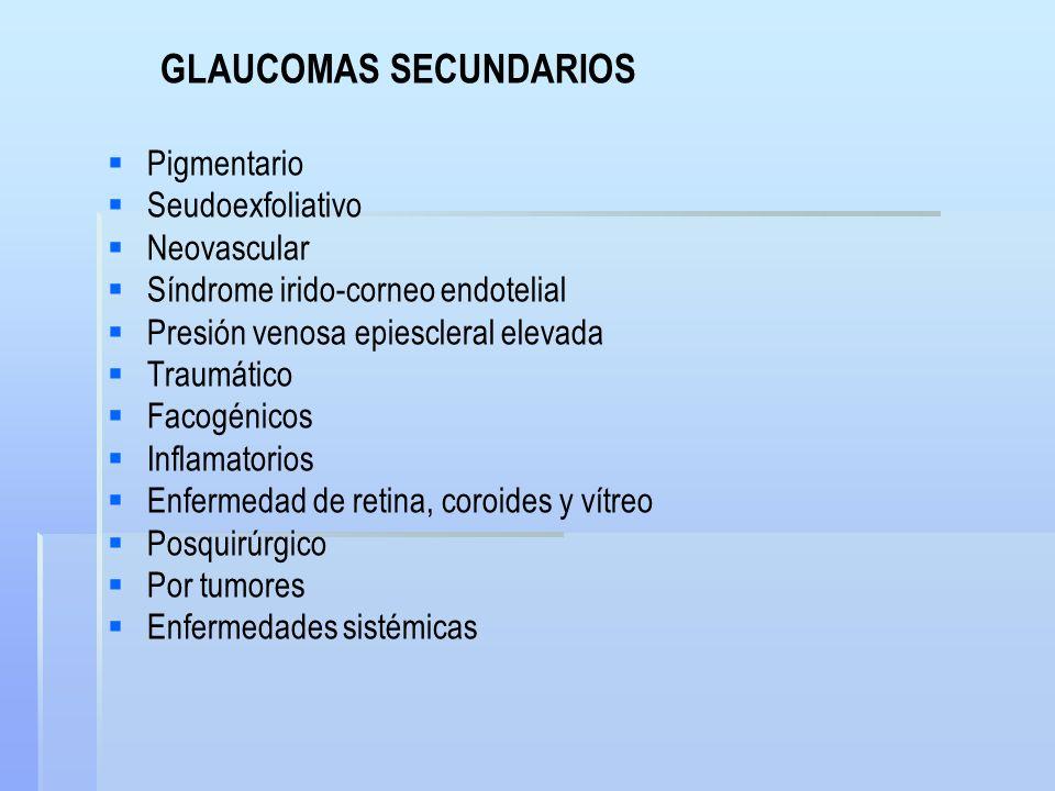 GLAUCOMAS SECUNDARIOS