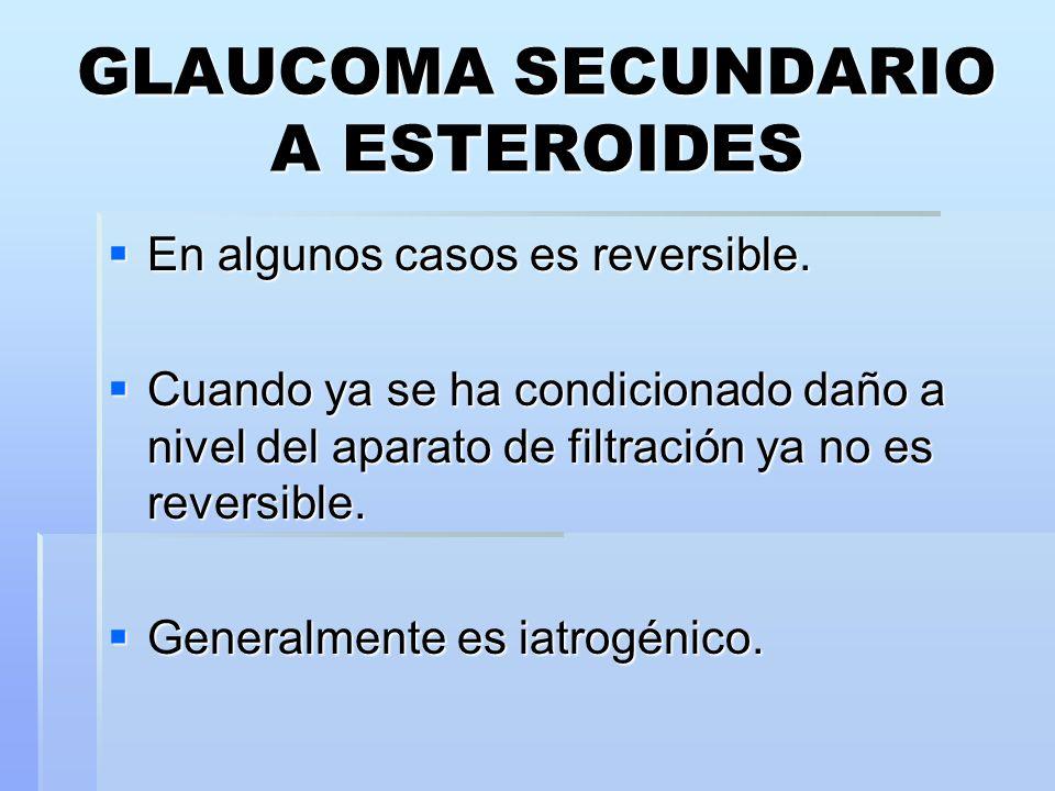 GLAUCOMA SECUNDARIO A ESTEROIDES