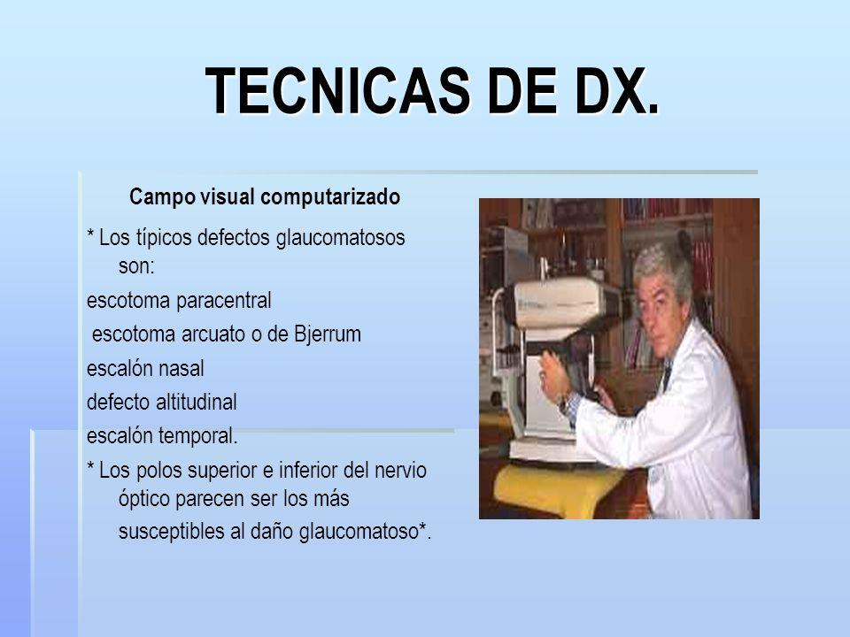 TECNICAS DE DX. Campo visual computarizado