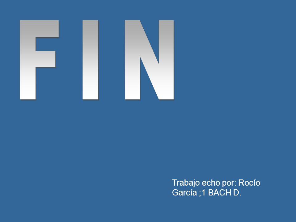 FIN Trabajo echo por: Rocío García ;1 BACH D.