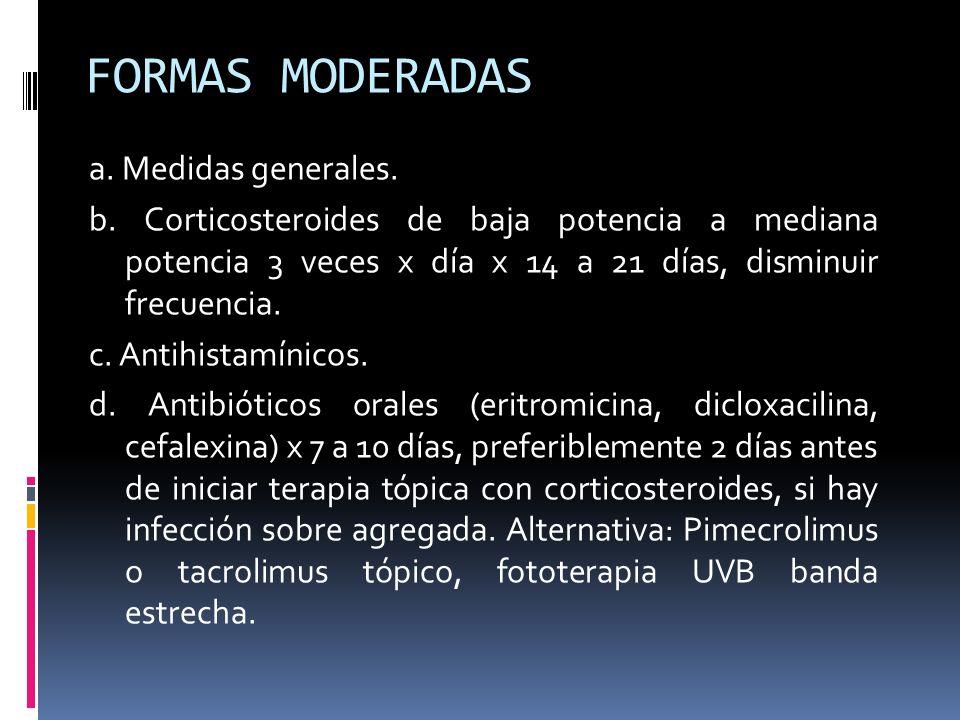 FORMAS MODERADAS