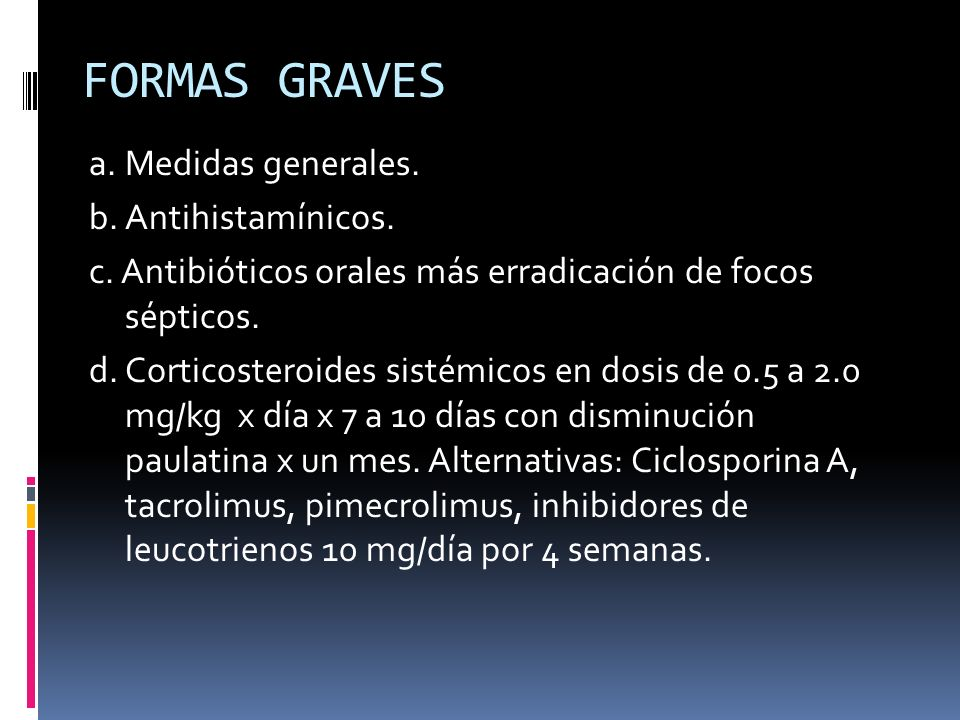 FORMAS GRAVES