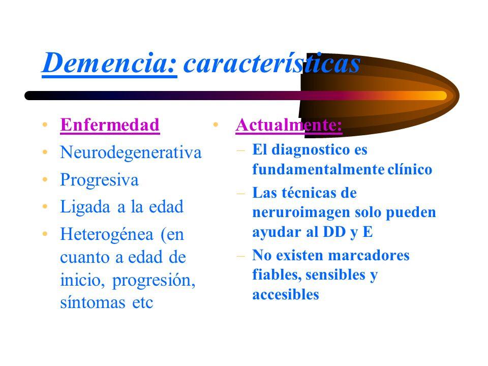 Demencia: características