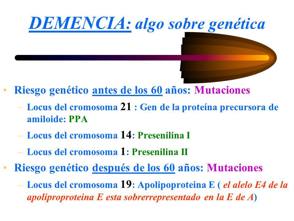 DEMENCIA: algo sobre genética