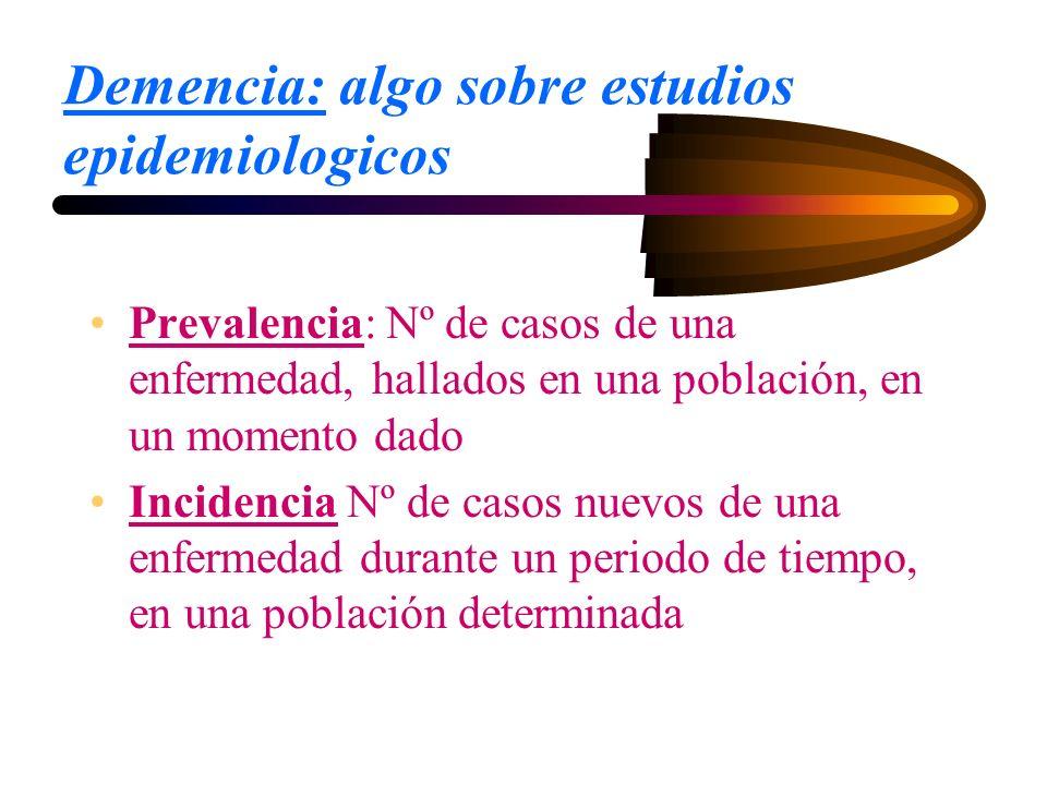 Demencia: algo sobre estudios epidemiologicos