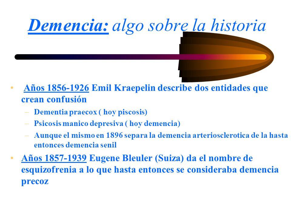 Demencia: algo sobre la historia