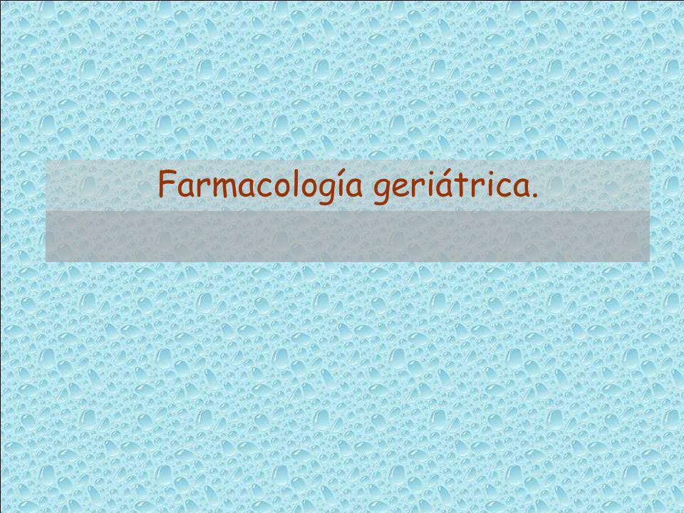 Farmacología geriátrica.