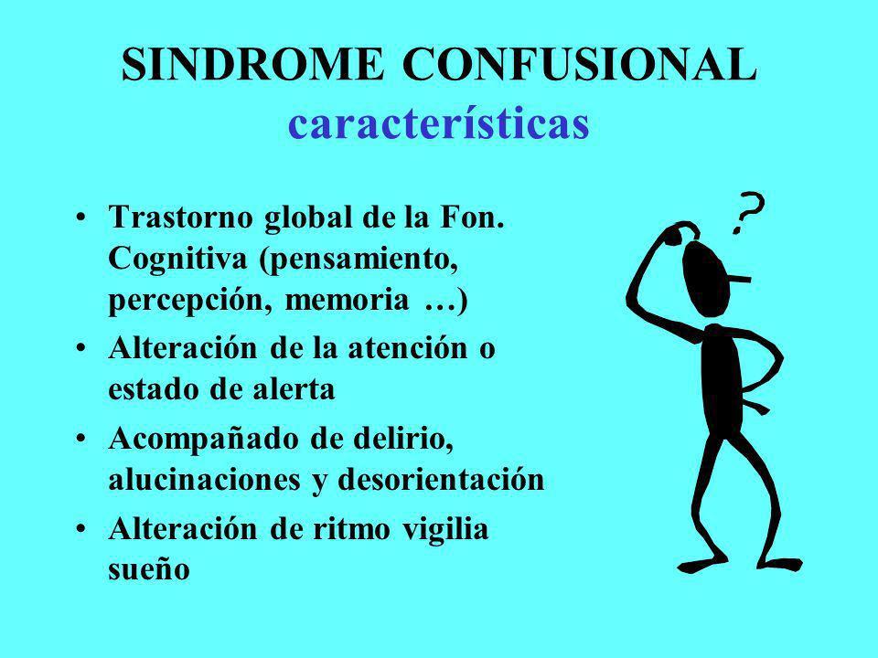 SINDROME CONFUSIONAL características