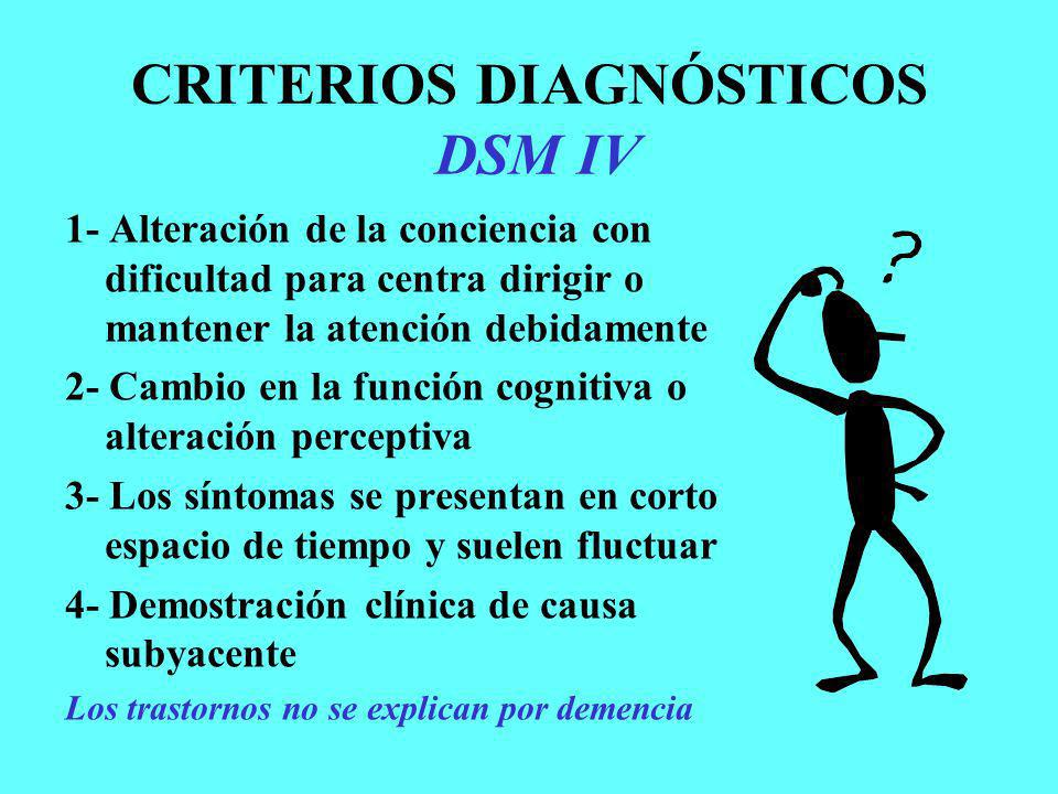 CRITERIOS DIAGNÓSTICOS DSM IV