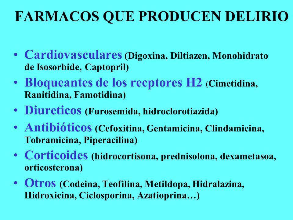 FARMACOS QUE PRODUCEN DELIRIO