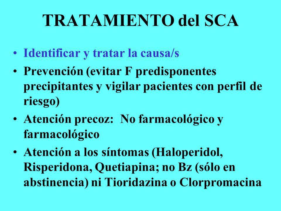 TRATAMIENTO del SCA Identificar y tratar la causa/s