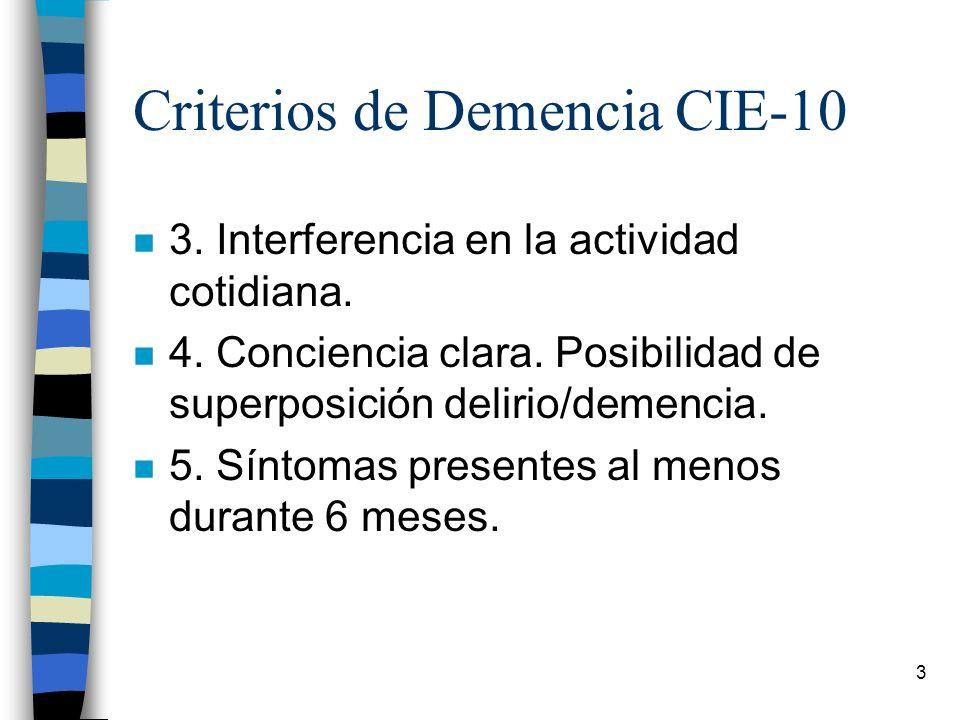Criterios de Demencia CIE-10