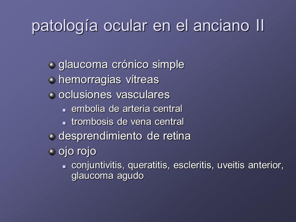 patología ocular en el anciano II