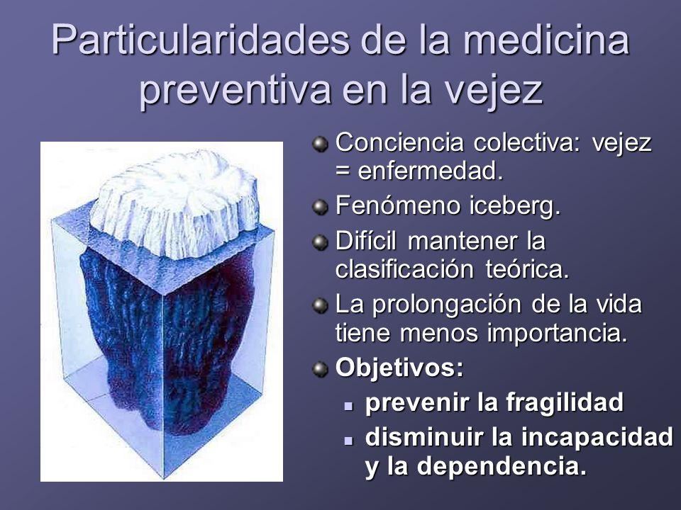 Particularidades de la medicina preventiva en la vejez