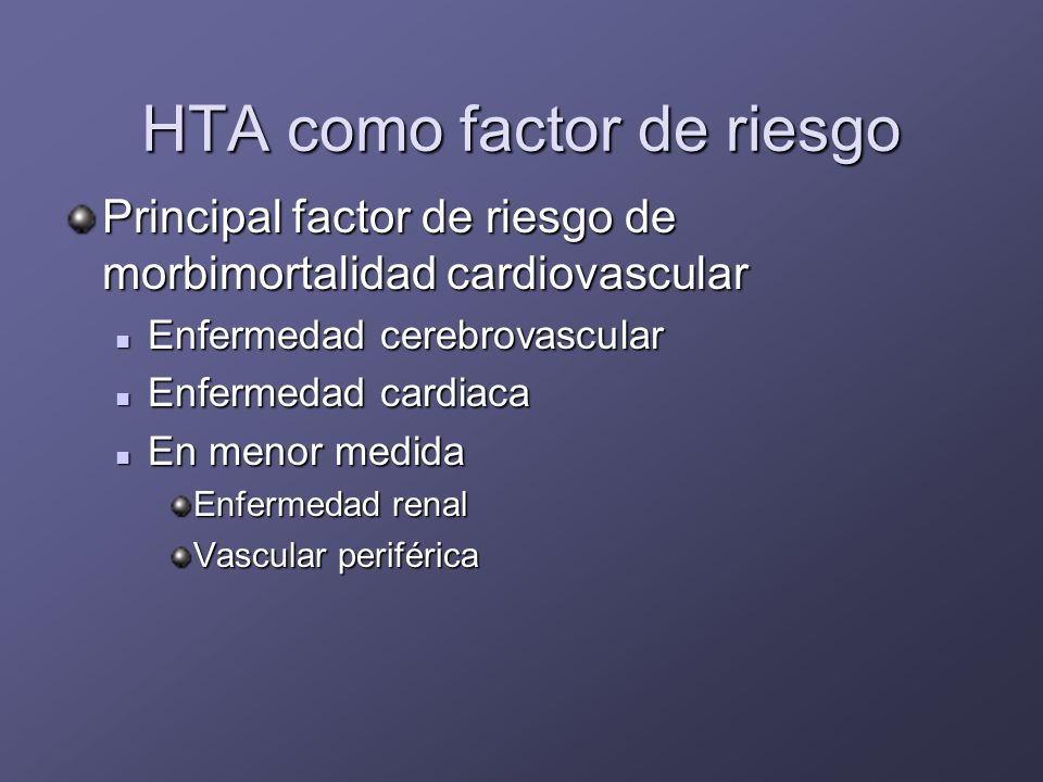 HTA como factor de riesgo