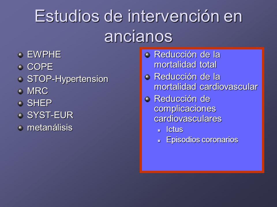 Estudios de intervención en ancianos