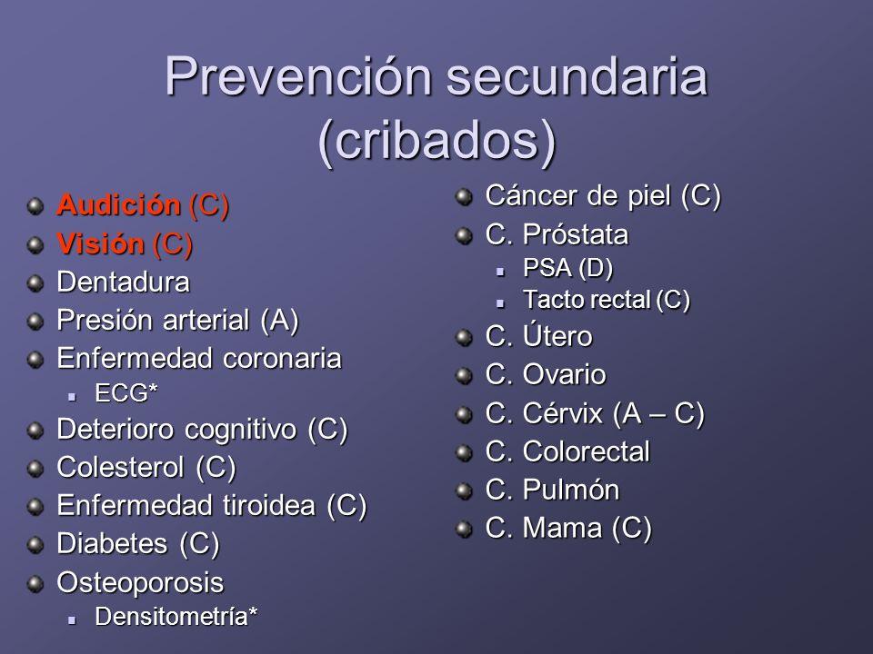 Prevención secundaria (cribados)