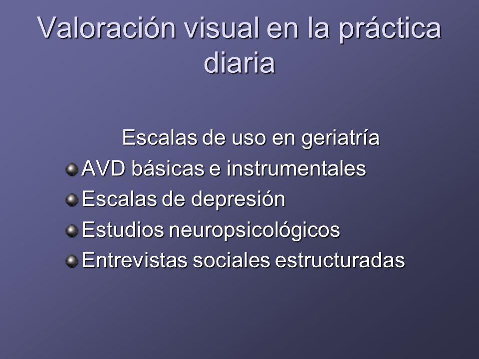 Valoración visual en la práctica diaria