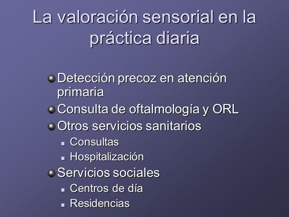 La valoración sensorial en la práctica diaria