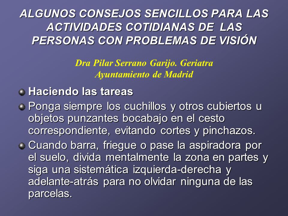 Dra Pilar Serrano Garijo. Geriatra Ayuntamiento de Madrid