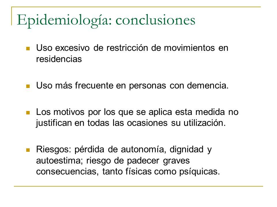 Epidemiología: conclusiones