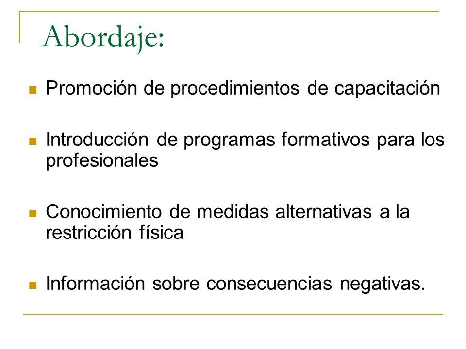 Abordaje: Promoción de procedimientos de capacitación