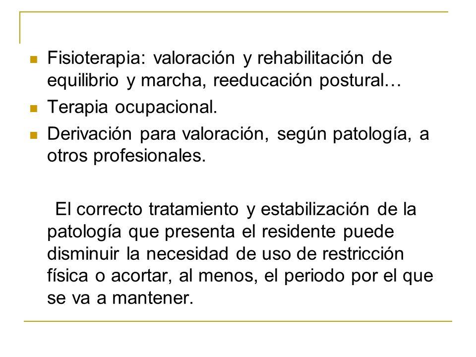 Fisioterapia: valoración y rehabilitación de equilibrio y marcha, reeducación postural…