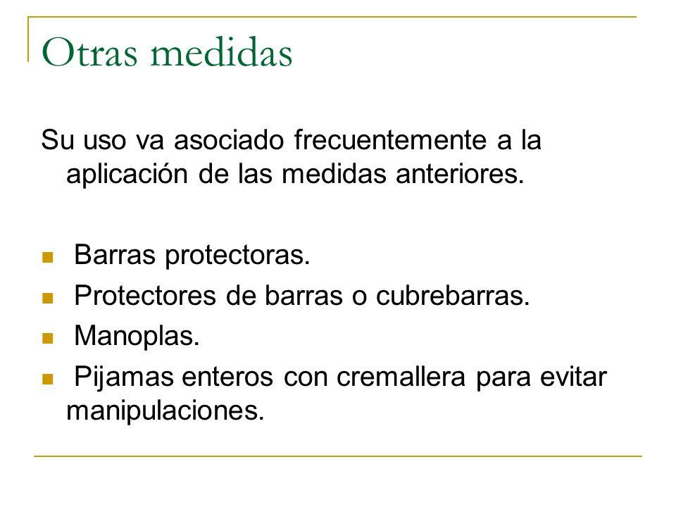 Otras medidas Su uso va asociado frecuentemente a la aplicación de las medidas anteriores. Barras protectoras.
