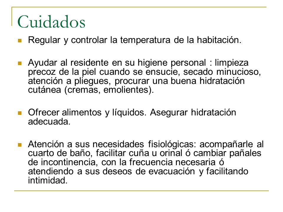 Cuidados Regular y controlar la temperatura de la habitación.