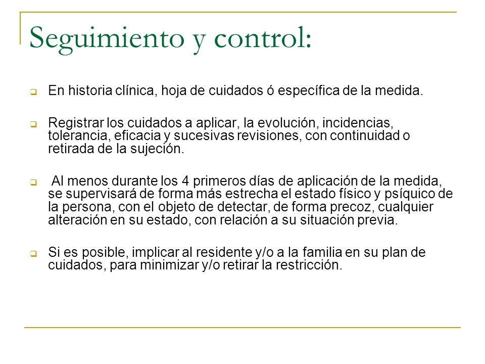 Seguimiento y control: