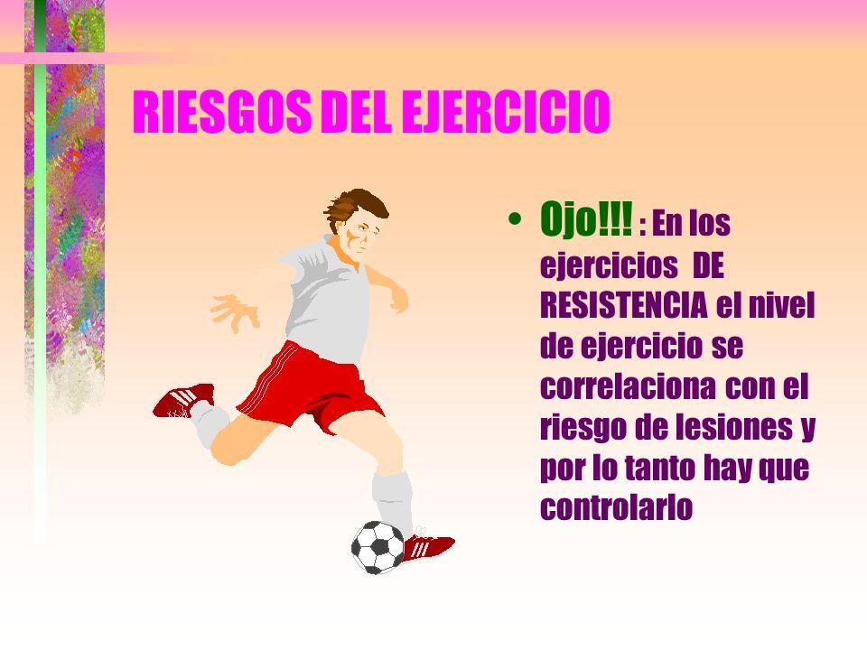 RIESGOS DEL EJERCICIO