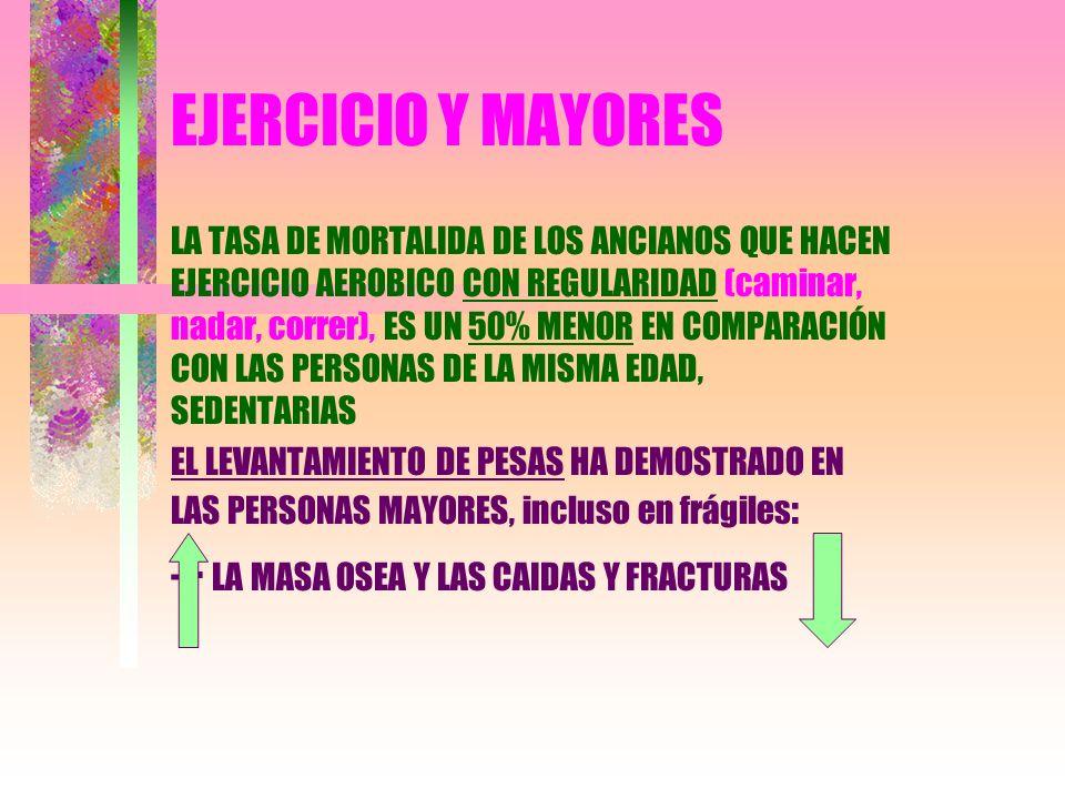 EJERCICIO Y MAYORES - - LA MASA OSEA Y LAS CAIDAS Y FRACTURAS