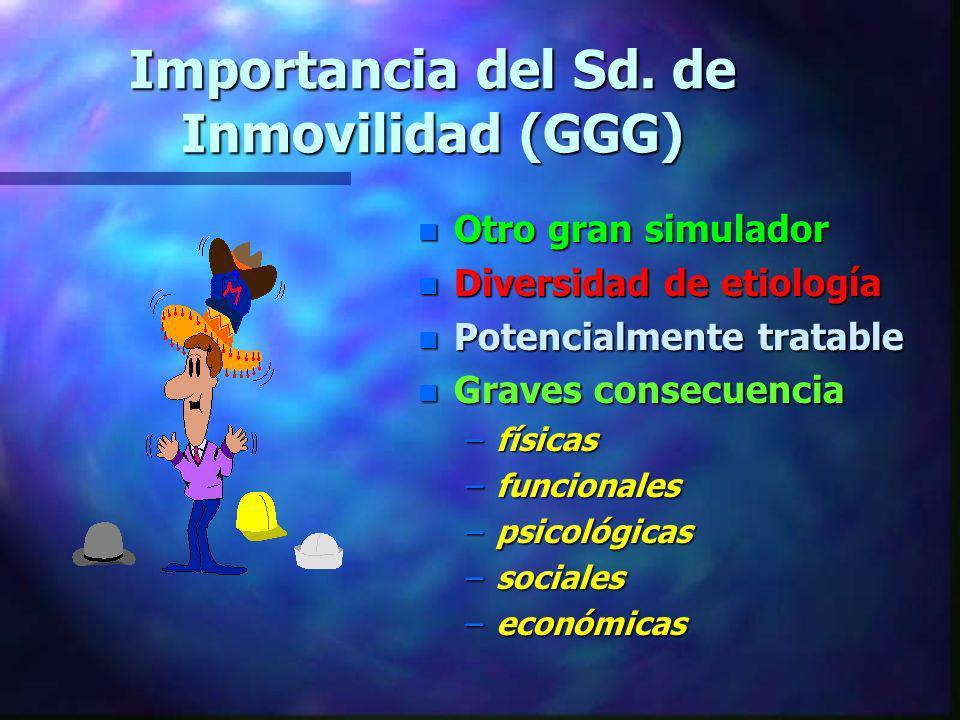 Importancia del Sd. de Inmovilidad (GGG)