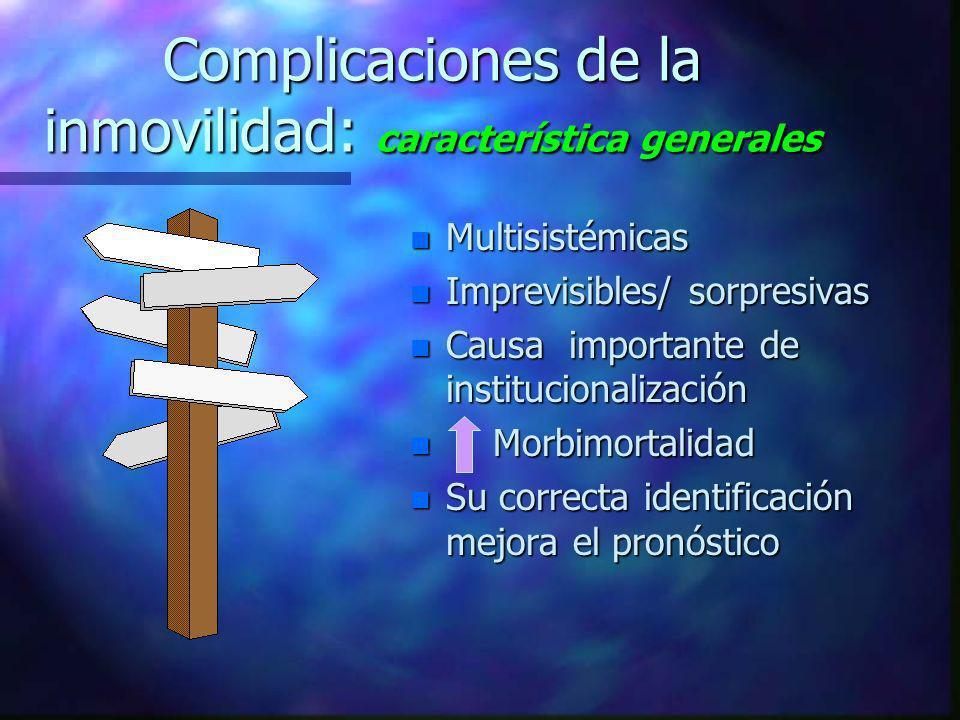 Complicaciones de la inmovilidad: característica generales