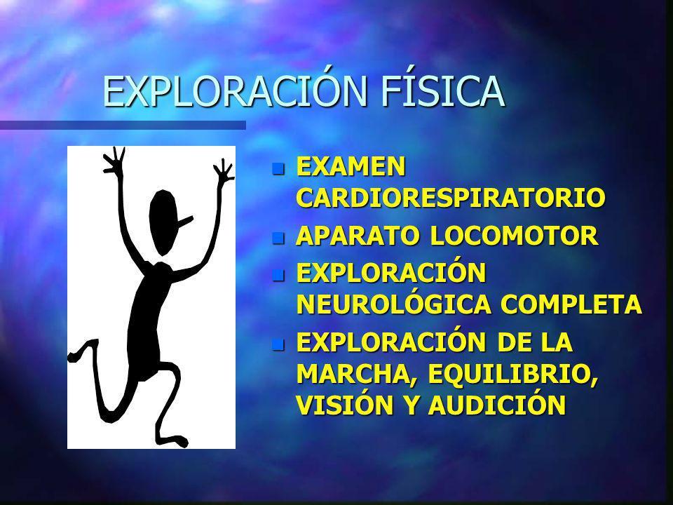 EXPLORACIÓN FÍSICA EXAMEN CARDIORESPIRATORIO APARATO LOCOMOTOR