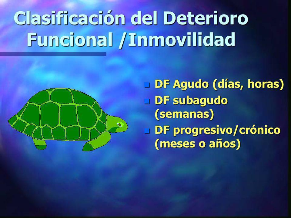 Clasificación del Deterioro Funcional /Inmovilidad