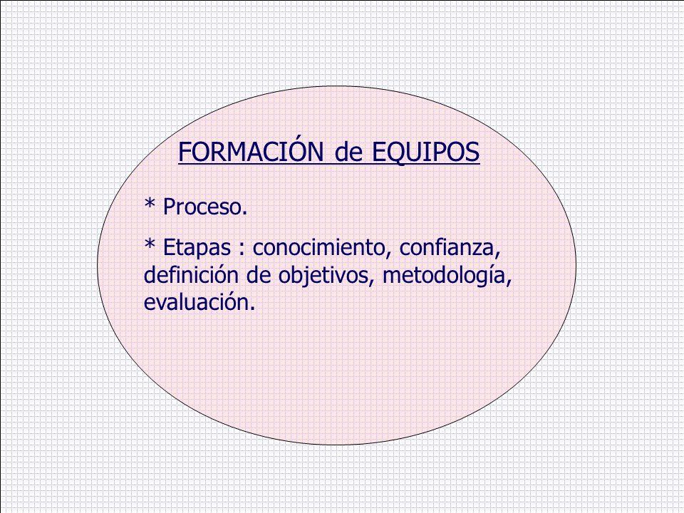 FORMACIÓN de EQUIPOS * Proceso.