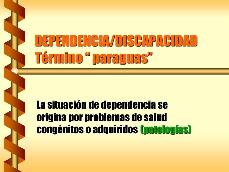 DEPENDENCIA/DISCAPACIDAD Término paraguas